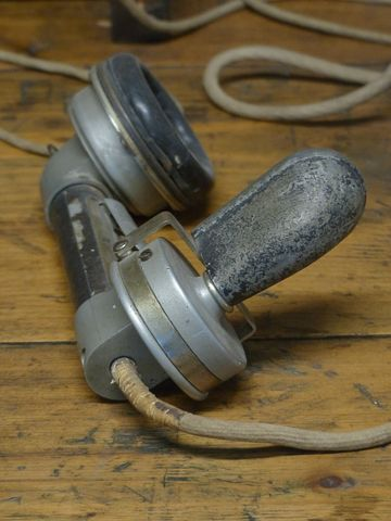 1930's telephone handset mouth piece focus