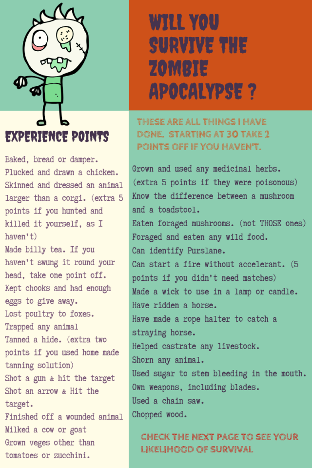 Will you survive the end of the world pg 1